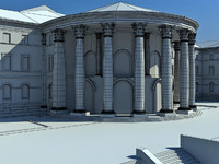 3d model october palace classic building