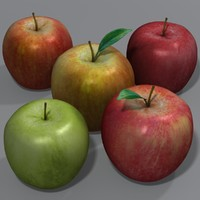 apple gala russet 3d max