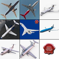 Passenger Aircrafts Collection v3