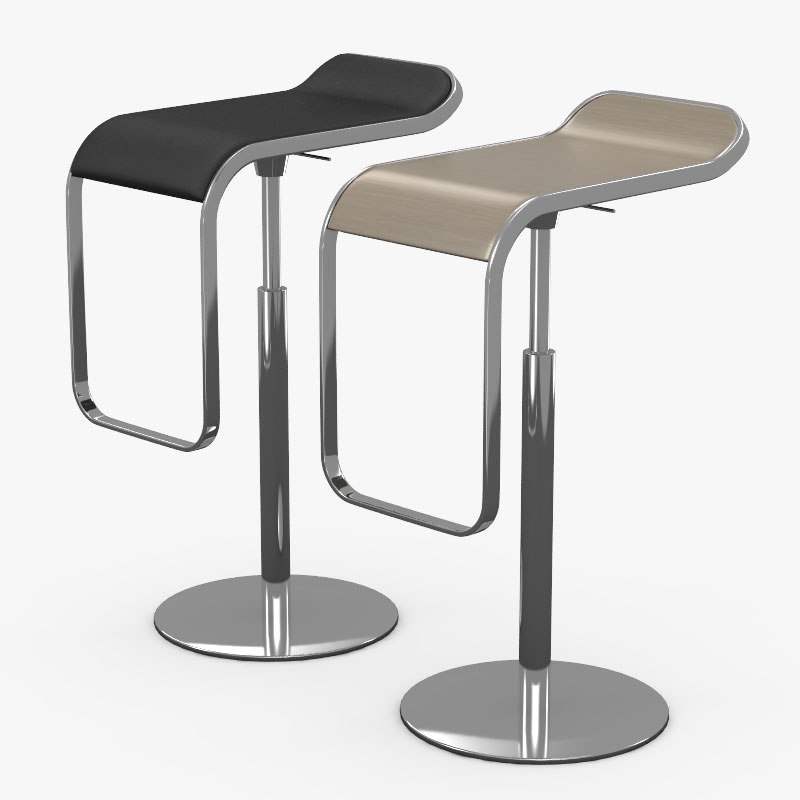 Bar 2 chair barhocker 3d model for Barhocker 3d