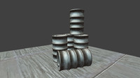 3d model of barrel