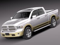 3d model of 2012 2013 dodge pickup