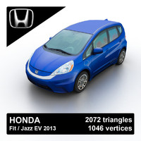 2013 honda fit jazz 3d model