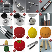 3d model kitchen tools v3
