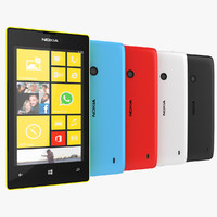 Nokia Lumia 520 Smartphone 2013 Black, White, Blue, Red, Yellow