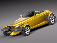 3d model plymouth stock prowler 1997
