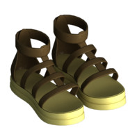 3d sandal female model