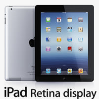 ipad 4 retina display 3d max