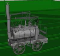 3d puffing billy steam locomotive model
