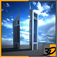 3d emirates office tower model