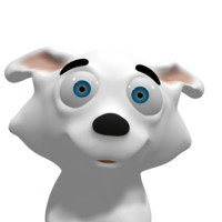 white husky 3d model