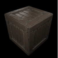 Old wood crate (For games)