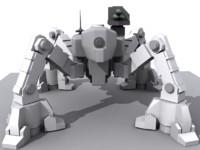 3ds max combat robot spider