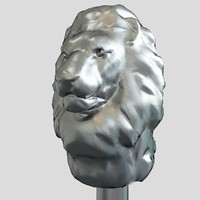 3d walking stick lion