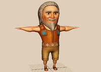 sculpted male cartoon character 3d max