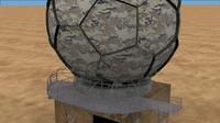 3d model radar dome 1