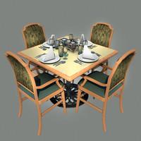 3d dining model