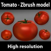 3d zbrush tomato model