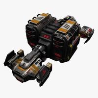 cargo ships 3d model