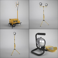 work light set 3d model