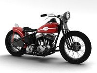 3d model of harley-davidson wla bobber 1945