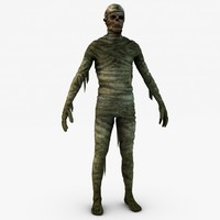 3d model mummy games uv