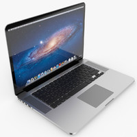 apple macbook pro retina 3d obj