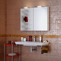 bathroom interior 3d 3ds