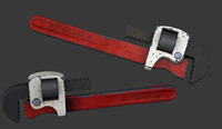 3d model pipe wrench