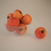 3d model of apples