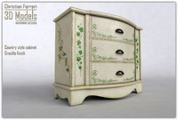 country style cabinet 3d model