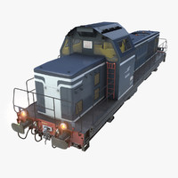 locomotive bb66000 3d model
