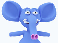 cartoon elephant character 3d 3ds