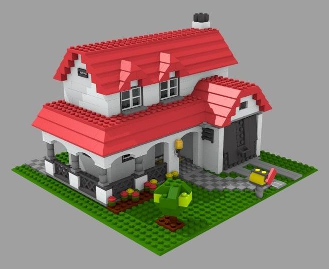 Lego house 3d model for Lego house original