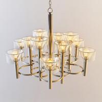 3d model italian circular motiff chandelier