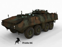 3d model piranha marines