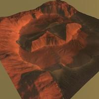 terrain mars 3d 3ds