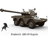panhard sagaie erc-90 3d model
