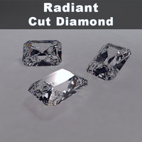 radiant cut diamond 3d model