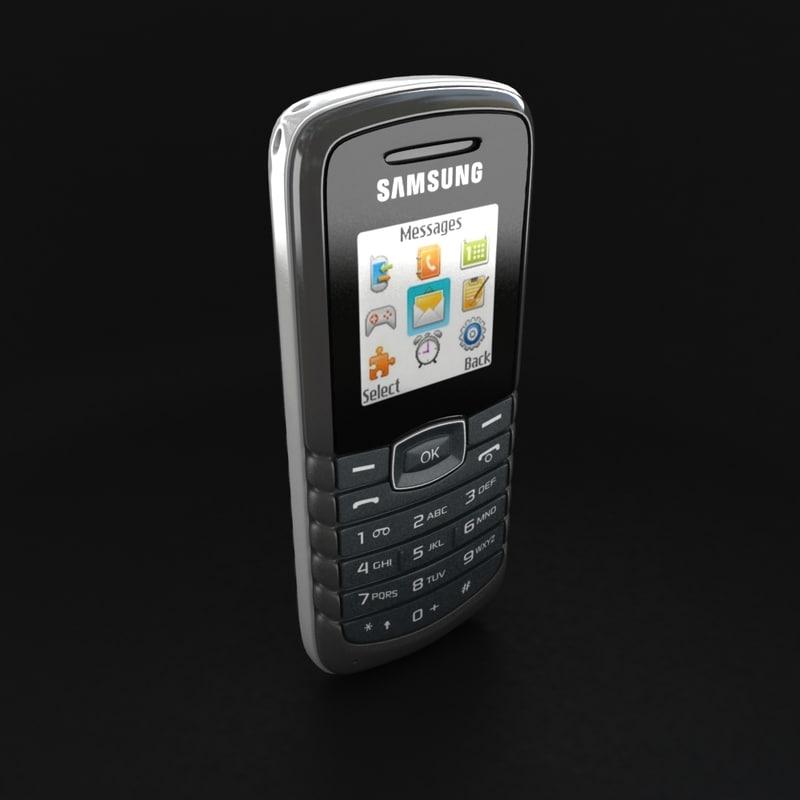 3d model cell phone samsung e1081. Black Bedroom Furniture Sets. Home Design Ideas
