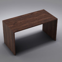 Crate&Barrel - Sentry Walnut 55 Work Table
