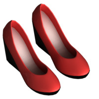 shoes female 3d max