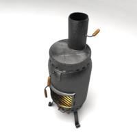 wood burning stove 3d max