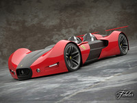 ferrari celeritas concept car 3d model