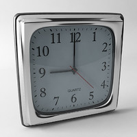 3ds max square wall clock