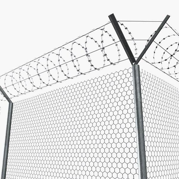 3d modular concrete wire fences model - Concrete fence models design ...