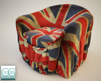 3d model chair fabric cover