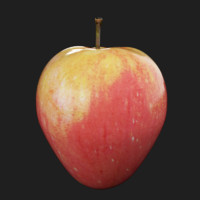 3d apple red