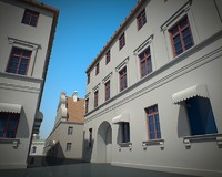 3d model old town historical minsk