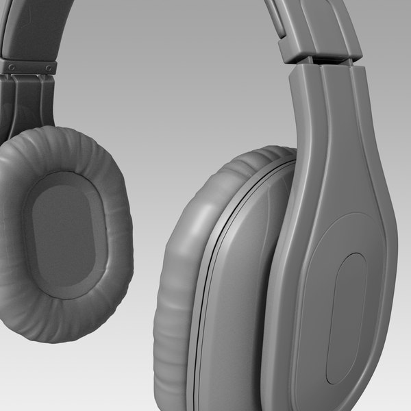 headphones modeled 3d obj - headphones 3d model... by TT 3D
